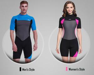 Shorty Wetsuit Traje de neopreno premium de neopreno de 2 mm Traje de manga corta para buceo, snorkeling, natación para hombres, mujeres