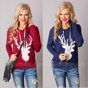 Weihnachten Jacken Mode Brief Hoodies Frauen Casual Mantel Langarm Sweatshirts Hot Blusen Pullover Outwear Jumper Weibliche Kleidung C2989