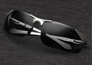 2016 Erkek Polarize Rimless Alüminyum Güneş Sürüş Doğa Sporları Polarize Gözlük Gözlüğü óculos Gözlüğü Güneş Gözlükleri 8585