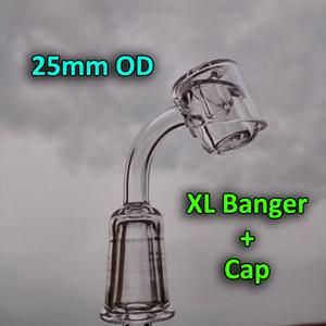 2016 Nouveau XL Quartz Banger Nail + Carb Cap Femelle Mâle 10mm 14mm 18mm 45 90 Degrés 25mm OD Quartz Bangers Nails, Rigs D'huile