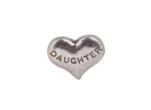 20 ADET Moda Antiqued Gümüş DAUGHTER yüzer locket charms # 92425