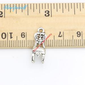 20 unids / lote Plata Antigua Plateada Silla Colgantes de los encantos para el collar de La Joyería Que Hace DIY Artesanía Hecha A Mano 20x6mm