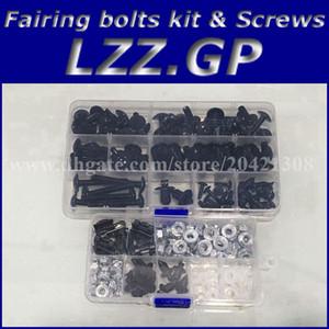 Tornillos kit de tornillos de carenado para Kawasaki NINJA ZX9R 00 01 02 03 ZX 9R 2000 2001 2002 2003 Tornillos de carenado ZX-9R Plata negra