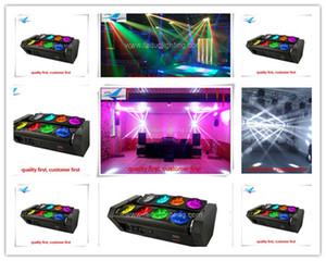 8 lot professional lighting spider beam led 8x10w 4in1 led beam moving head light