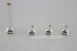 Bb Trumpet Mouthpiece Set High Quality Metal Trumpet Nozzle Size 3C 5C 7C 1.5C Silver Plated Instrument Accessories Free Shipping