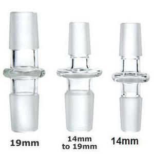 14.5mm 18.8mm Erkek Kadın Cam Adaptörü Cam Strainght Ortak Cam Bongs Adaptörü 14mm 19mm Cam Dönüştürücü Dab Kuleleri için