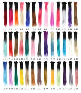 Dreadlocks 2.2usd ombre estensioni dei capelli sintetici trecce all'uncinetto le estensioni dei capelli di lavoro manuale 22inch colorato Biondo estensioni di moda