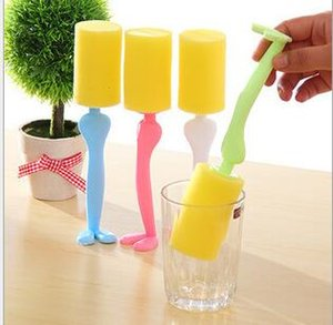 Copo durável escova de limpeza esponja limpa Wineglass garrafa Purificador de Cozinha Ferramenta De Limpeza Escova De Esponja Para Copo de Vinho Garrafa De Coffe Chá De Vidro Cu