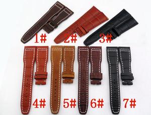 1 piece, 22mm couro relógio Strap Wristwatch Bands + fivela de aço x1 (cor escolher) dos homens Top Quality Relógio De Pulso Banda P80