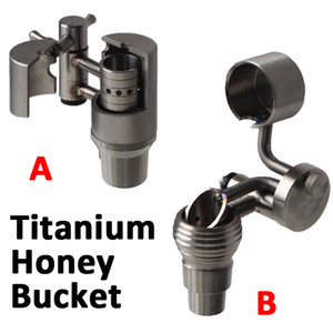 Bestseller Titanium Honey Bucket con tappo in titanio Carb 14mm 19mm Maschio Ti Swing e Ti Carb Cap per tubi d'acqua in vetro
