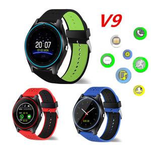V9 Smart Watch Android Samsung ساعات SIM الهاتف الذكي ووتش الذكية يمكن تسجيل النوم الذكية حالة النوم مع حزمة