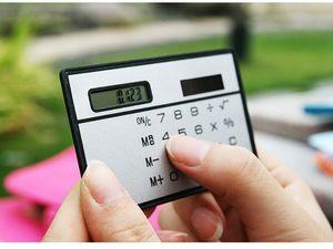 2016 sıcak! Yeni Kart Hesaplama / Taşınabilir İnce Hesap / Güneş Hesaplama / Güneş Hesap Makinesi Kartı Hesaplama Ultra-ince Hesap Makinesi