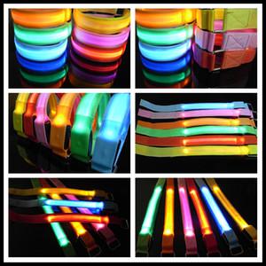 Открытый спортивный стиль сетки LED гибкие мигающие повязки безопасности предупреждение безопасности запястье ремень ночной активности партии развеселить нейлон группа прозрачный