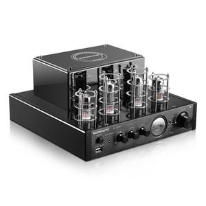 Freeshiping Nobsound MS-10DMKII HiFi 2.0 Home Audio مضخم صوتي أنبوب بلوتوث إدخال USB / BT / AUX سماعة مكبر للصوت 25W + 25W 6P1 * 2 + 6N1 * 2 AC220V