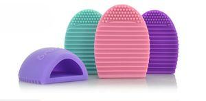 سيليكون brushegg البيض غسل فرشاة تنظيف فرشاة جافة أدوات ماكياج فرشاة حامل لطيف المحمولة اختيار اللون 7