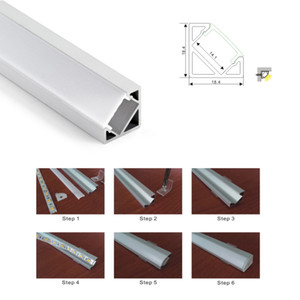 100 X 1M устанавливает / серия 30 градусов углов водить алюминиевый профиль и V углового канала для кухни или шкаф привели лампы
