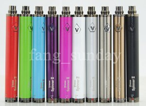 2019 Ecigarette Vape الأقلام بطارية الرؤية 2 سبين II الأنا C Evod تويست قابل للتعديل 3.3-4.8V الجهد المتغير 1650mAh مبخر شاحن USB