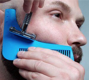 2017 The Beard Shaping Shaper Styling Template PLUS Barba peine All-In-One Tool Peine de ABS para cabello Barba Plantilla con paquete de cartón