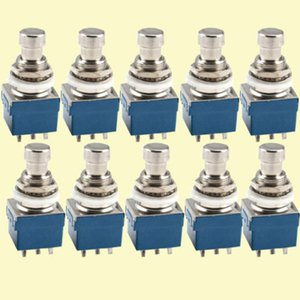 E Support 3PDT 9 Pins Box Stomp Guitar Effect Pedal Foot Switch True Bypass Metal Pack of 30