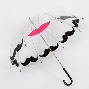 Hot Garden Plastic EVA Transparent Cute Bird Cage Parasol Ombrello da pioggia a maniglia lunga