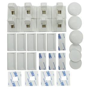 DAXGD 8pcs lock +3 chiavi Magnetic Child Lock Cabinet Lock Maniglia per porta di sicurezza per bambini Kids Drawer Locker Sicurezza del bambino Serrature invisibili
