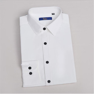 2017 Ready To Wear Groom Shirts Cotton Polyester Leisure Solid Full Sleeve Single Breasted Groom Wear Dresses Shirts