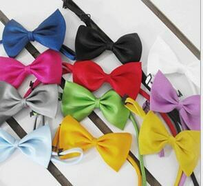 2016 Hot Sale Kids Fashion Accessories Boys Bow Silk Ties Baby Bowties children Photography Props 9 Colors Available Free Shipping