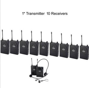 Hot Boutique Recomendado UHF Wireless Tour Guide / Translation System 1 Transmisor 10 Receptores envío gratis por AIBIERTE 2016