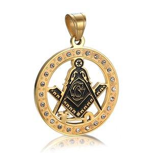 Nova chegada de aço inoxidável dos homens signet maçônica pingente emblema AG pingente de colar de jóias por atacado