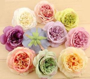 50pcs 10cm teste di fiori artificiali di Austin Rose Stamen per la decorazione domestica del mazzo nuziale di nozze