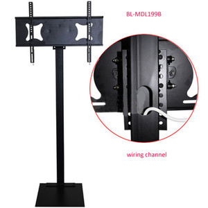32-70 pouces LCD LED Plasma TV Mount Stand Support de plancher Hauteur Réglable Full Motion Wiremanagement AD Display Stand