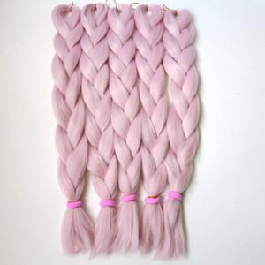 """LIVRAISON GRATUITE 24 """"80g x-pression ROSE VANILLE Couleur Kanekalon Jumbo Tressage Cheveux Dreadlock Doux Afro Crochet Box Tresses T2334"""
