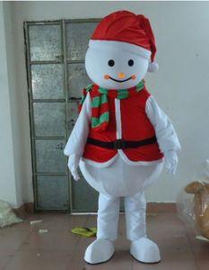 SX0723 Con un mini fan dentro de la cabeza del traje de mascota del muñeco de nieve en traje de Navidad para que lo use un adulto