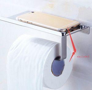 stainless steel 304 Bathroom Toilet Paper Holder Towel with Shelf Mobile Phone Toilet Roll Holder Tissue Holder Porta Papel Higienico