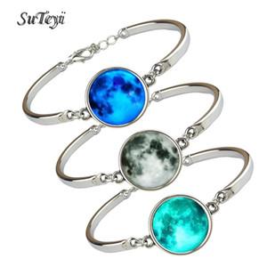 Luminous Star Series Planet Men Women Bracelet Glass Cabochon Bracelets & Bangles Glow in the Darkness Women Men Bracelets Jewelry
