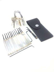 15pcs Sblocco del selezionamento della serratura strumento Hook blocco Picks fabbro + 5pcs raccolta di blocco Tools set con Transparent pratica Lucchetto Serrature