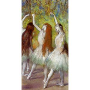 Dançarinos quadros Edgar Degas Dancers in Green arte moderna para decoração de parede pintados à mão