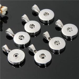최신 펜던트 팔찌 액세서리 교환 할 수있는 DIY 쥬얼리 18mm 스냅 쥬얼리 금속 스냅 버튼 펜던트 목걸이
