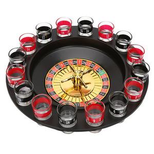 Yeni Atış Cam Deluxe Rus İplik Rulet Poker Chips Içme Oyunu Seti Parti Malzemeleri Şarap Oyunları için Yetişkin Drinken Oyunu
