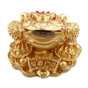 Feng Shui Money LUCKY Fortune Wealth Oriental Chinese I Ching Toad Coin Home free Nuevos adornos de tres patas