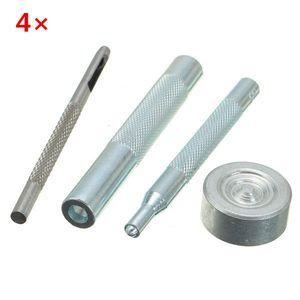 4pcs métal oeillets bouton installation de poinçon d'artisanat en cuir outils bricolage
