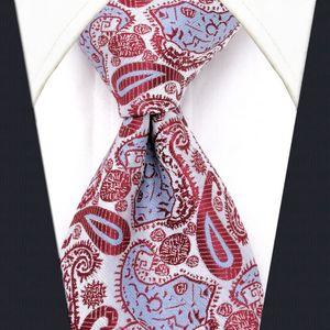 Acessórios Padrão U17 Branco Paisley Mens Ties Silk Handmade casamento clássico Moda Marca New vestido de gravata dos homens