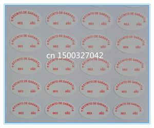 customized small round sheet paper broken fragile label sticker