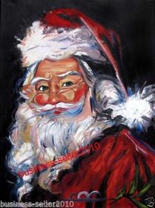 Gerahmte Weihnachtsmann, reines handgemaltes abstraktes Kunst-Ölgemälde auf Qualitätssegeltuch-multi Größen geben Verschiffen frei