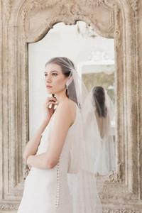 New Juliet Cap alta qualità Waltz Cut Edge handmade Veil One Layer Wedding Bridal Soft Tulle Veils