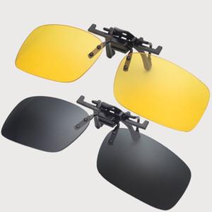 Мода Солнцезащитные очки 3 Цвета Клип Унисекс Ультра-Светлая линза на солнцезащитные очки UV400 Вождение очки с упаковкой Бесплатный DHL FedEx