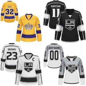 Lady Los Angeles Maillot Kings 3 Brayden McNabb 6 Jake Muzzin 31 Peter Budaj 38 Paul LaDue Maillots de Hockey Personnalisés N'importe quel nom et n'importe quel numéro