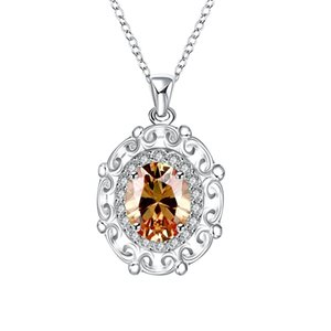 10 Pendant Silver Women's Gemstone Necklaces Fashion Mixed Pendant 925 Necklaces Mix Silver Sterling Style,cheap Order Pieces GTN5 Didcg