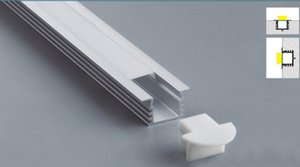 2.5m / pcs 40pcs / lot des heißen populären Verkauf Freies Verschiffen-Groß eloxiert für LED flexible Streifen führte Aluminiumprofilextrusion Licht
