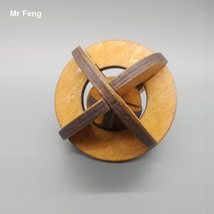 لعب الاطفال الكلاسيكية القديمة الصين الأجداد التقليدية لغز خشبية كونغ مينغ قفل